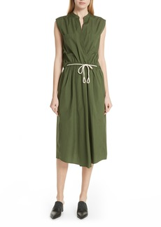 Vince Back Cutout Cotton Utility Dress
