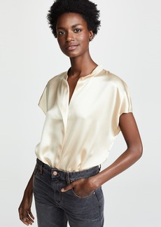 Vince Back Slit Popover Top