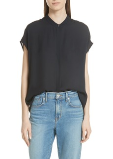 Vince Back Slit Silk Top