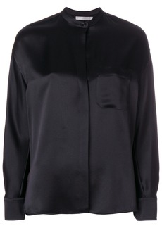 Vince band-collar blouse - Black