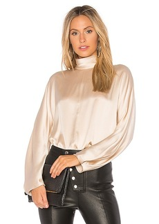 Vince Band Collar Blouse in Cream. - size S (also in M,XS)