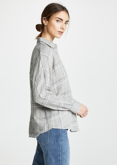 Vince Bar Plaid Popover Shirt