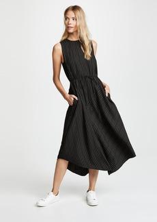 Vince Bar Stripe Paneled Dress