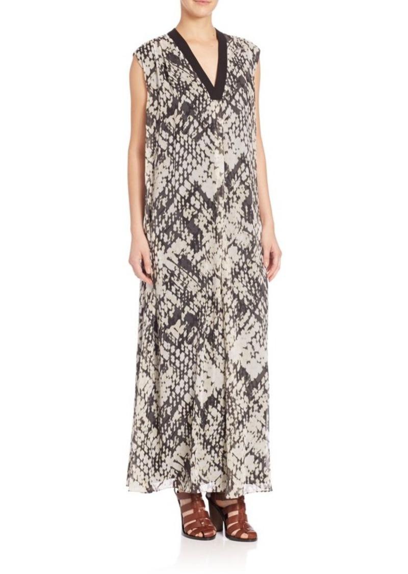 Vince Basketweave-Print Dress