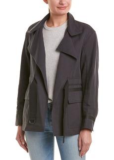 Vince Belted Linen-Blend Utility Jacket