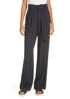 Vince Belted Stripe Pants