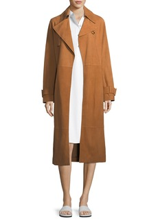 Vince Belted Suede Trench Coat