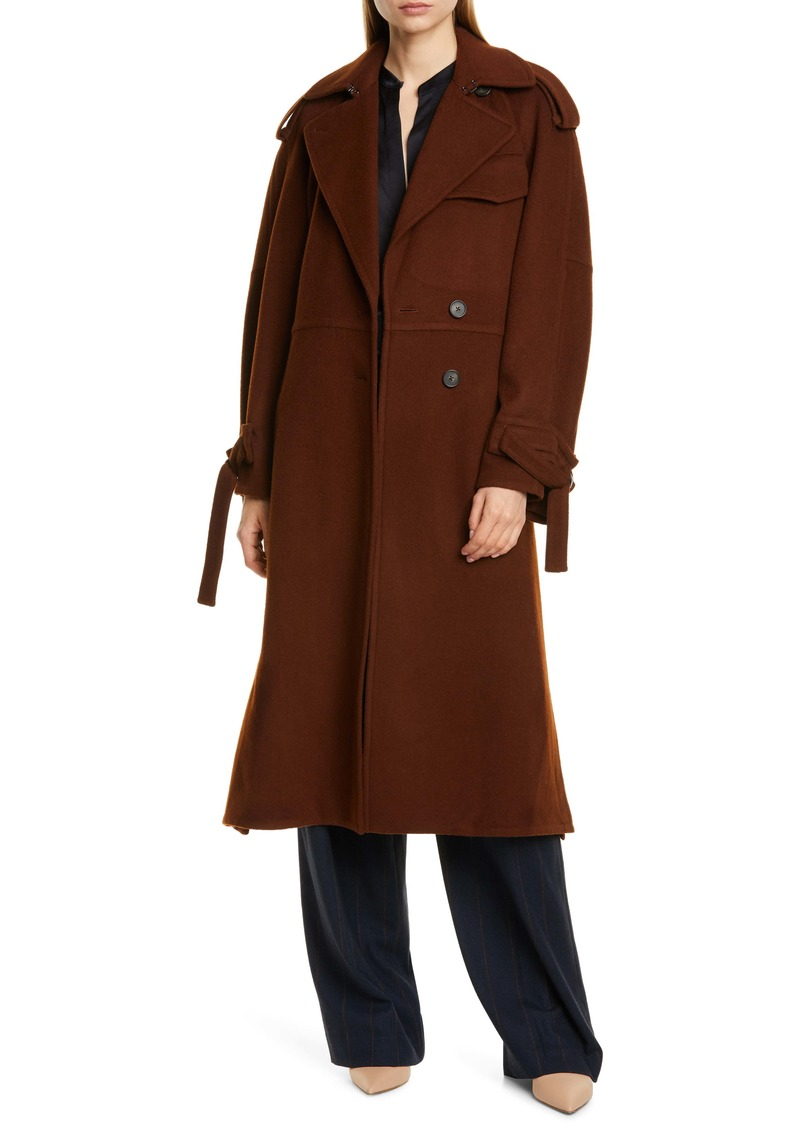 Vince Belted Wool Blend Trench Coat
