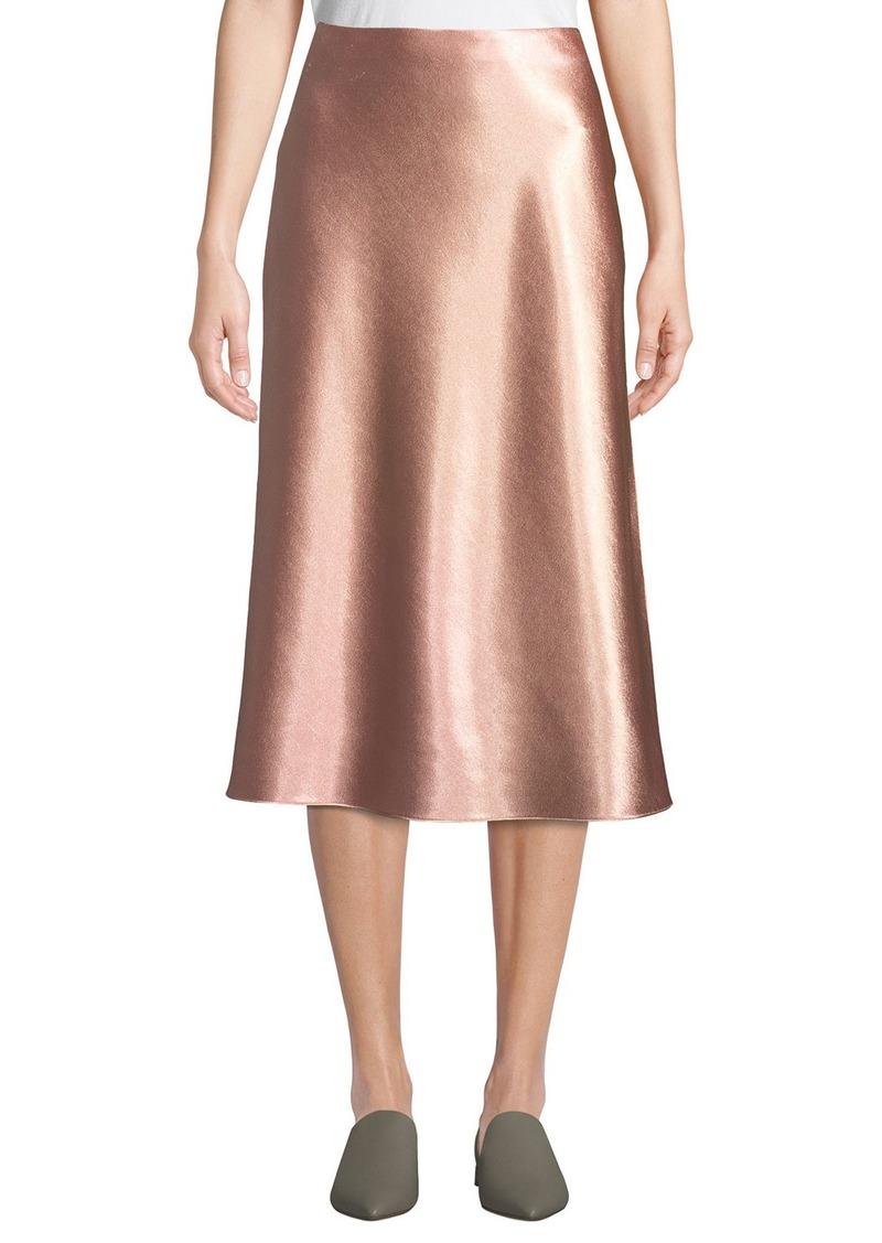 37900f28af On Sale today! Vince Vince Bias-Cut Satin Midi-Length Slip Skirt