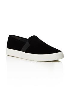 Vince Blair Velvet Slip-On Sneakers