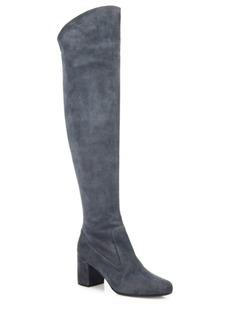 Vince Blythe Tall Suede Block Heel Boots