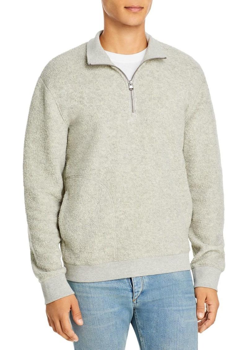 Vince Boucle Quarter Zip Sweater