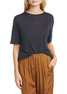 Vince Boyfriend Slub Linen T-Shirt