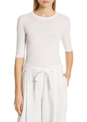 Vince Broomstick Pleat Cotton Top