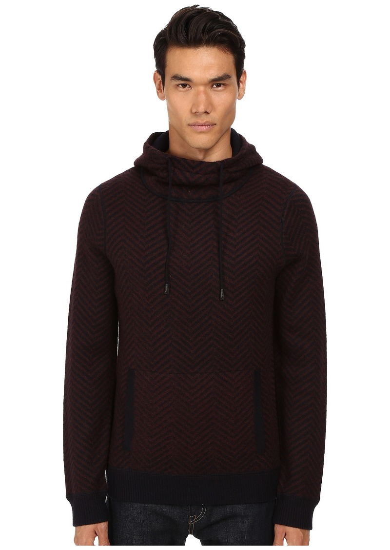 Vince Brushed Mohair Pullover Hoodie