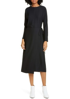 Vince Button Back Long Sleeve Dress