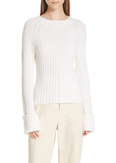 Vince Button Cuff Wool & Cashmere Sweater