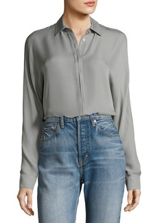 Vince Button-Down Long-Sleeve Blouse