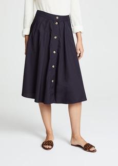 Vince Button Front Skirt