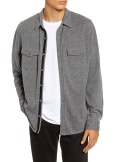 Vince Button-Up Wool and Cashmere Knit Shirt Jacket