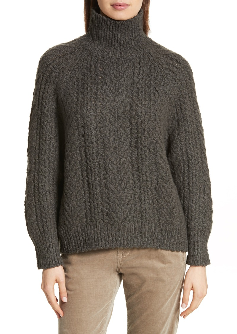 Vince Vince Cable Knit Turtleneck Sweater | Sweaters - Shop It To Me