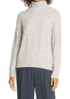 Vince Cable Mock Neck Merino Wool Blend Sweater