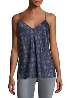 Vince Calico Floral-Print Silk Camisole Top