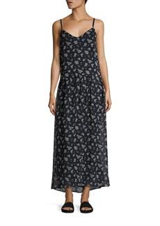 Vince Calico Floral-Print Silk Maxi Dress