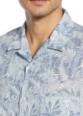 Vince California Print Cabana Slim Fit Short Sleeve Sport Shirt
