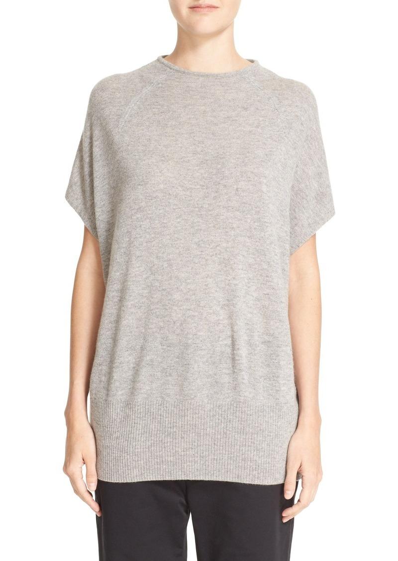Vince Cap Sleeve High Neck Cashmere Sweater