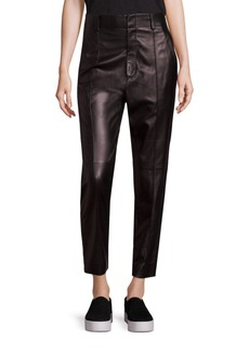 Vince Carrot Leather Ankle Pants