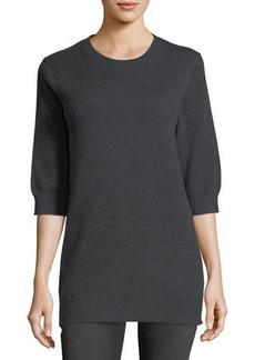 Vince Cashmere Half-Sleeve Sweater