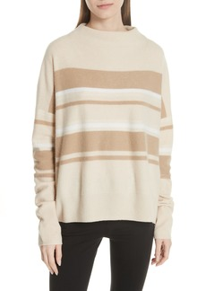 Vince Cashmere Ombré Stripe Mock Neck Sweater