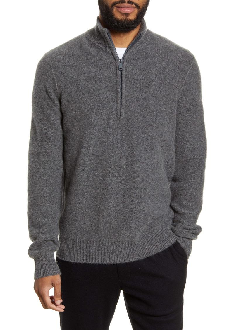 Vince Cashmere Quarter Zip Sweater