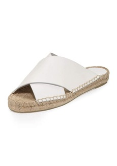 Vince Castel Leather Crisscross Flat Espadrille Sandal