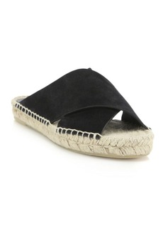 Vince Castel Suede Crisscross Espadrille Slide Sandals