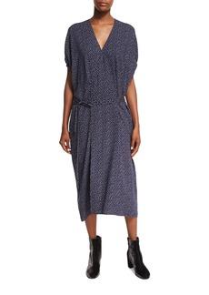 Vince Celestial Polka-Dot Kimono Wrap Dress
