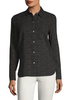 Vince Celestial Polka Dot Silk Shirt