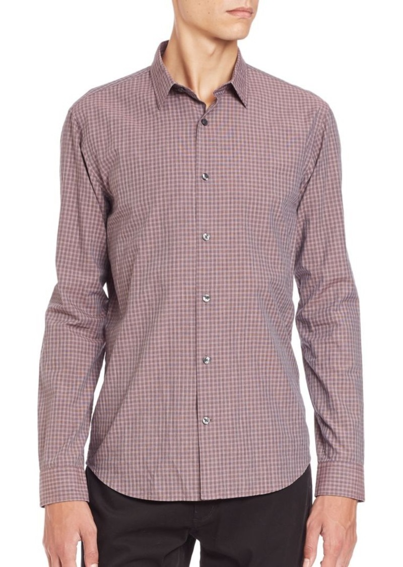 Vince Checked Cotton Sportshirt
