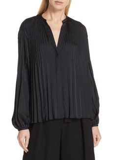 Vince Chevron Pleat Blouse