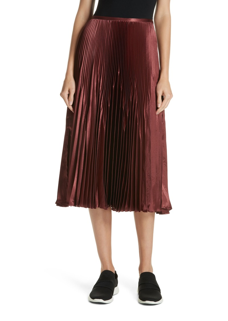 c7aa4c5f5c Vince Vince Chevron Pleated Satin Skirt | Skirts