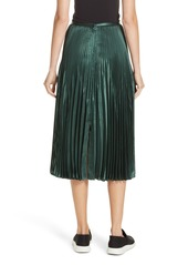 7065d1e9b3 Vince Chevron Pleated Satin Skirt Vince Chevron Pleated Satin Skirt ...