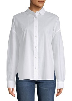 Vince Classic Cotton Button-Down Shirt