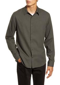 Vince Classic Fit Button-Up Flannel Shirt