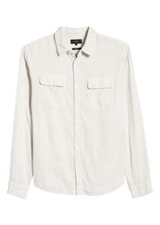 Vince Classic Fit Button-Up Shirt