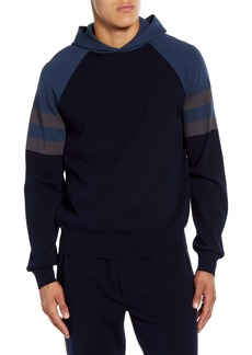 Vince Classic Fit Colorblock Pullover Hoodie