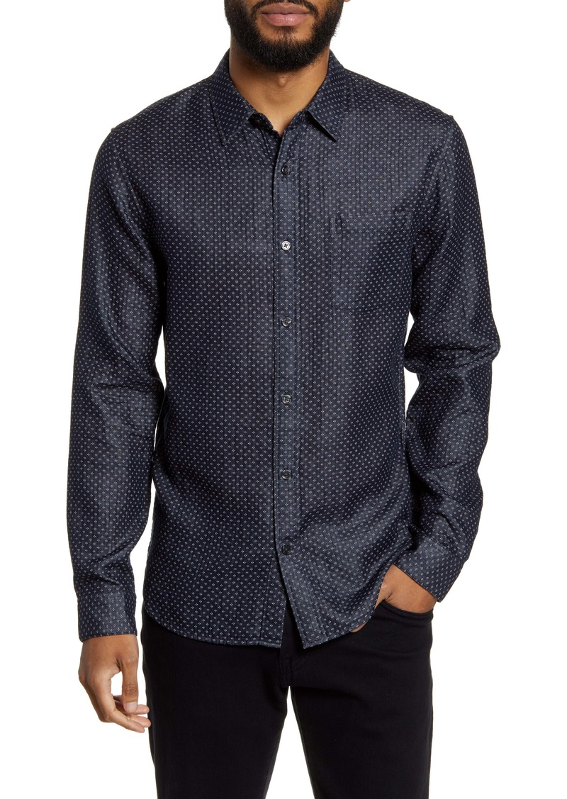 Vince Classic Fit Double Face Button-Up Shirt
