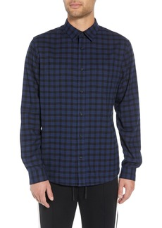 Vince Classic Fit Gingham Sport Shirt