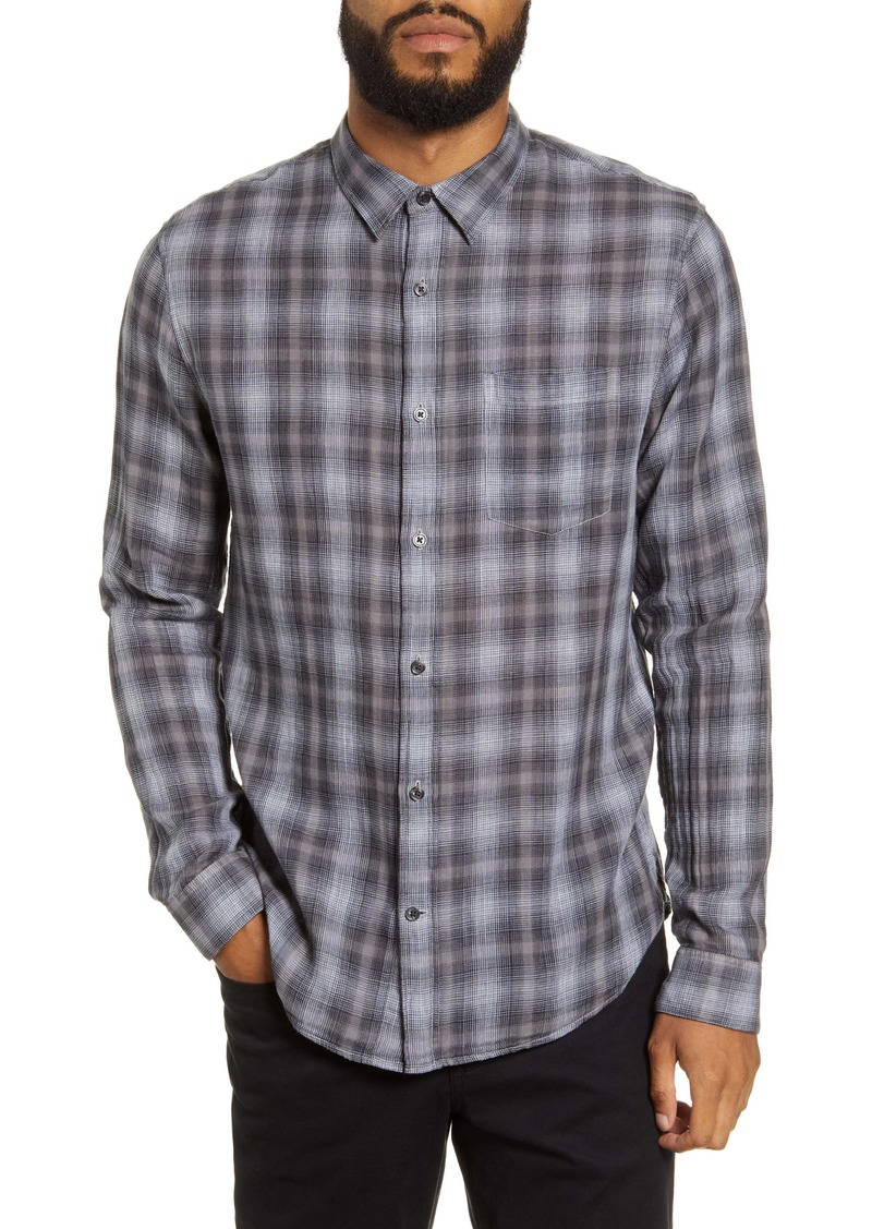 Vince Classic Fit Plaid Button-Up Shirt