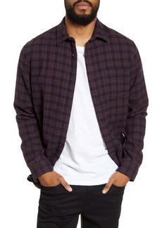 Vince Classic Fit Plaid Button-Up Shirt